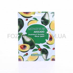 Маска д/лица Mond`Sub авокадо питательная тканевая