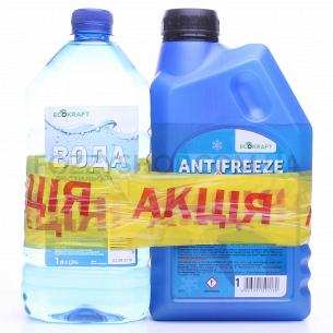 Антифриз EcoKraft син -40 1кг +дистиллиров вода 1л