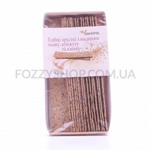Хлебцы Danvita хрустящие с семен льна-кунжута-тмина
