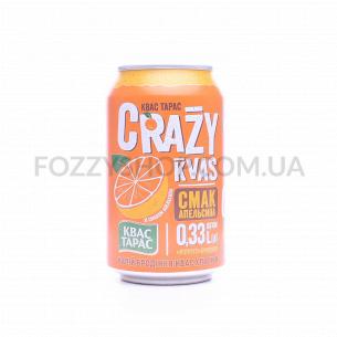 Квас Квас Тарас Crazy Kvas апельсин ж/б