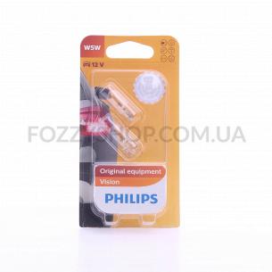 Лампа д/авто Philips габариты салон W5W1296112VB2