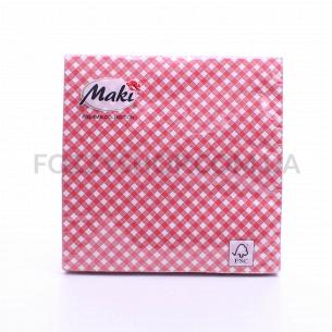 Салфетки Maki с рисунком бумажные 3-слойные M-17