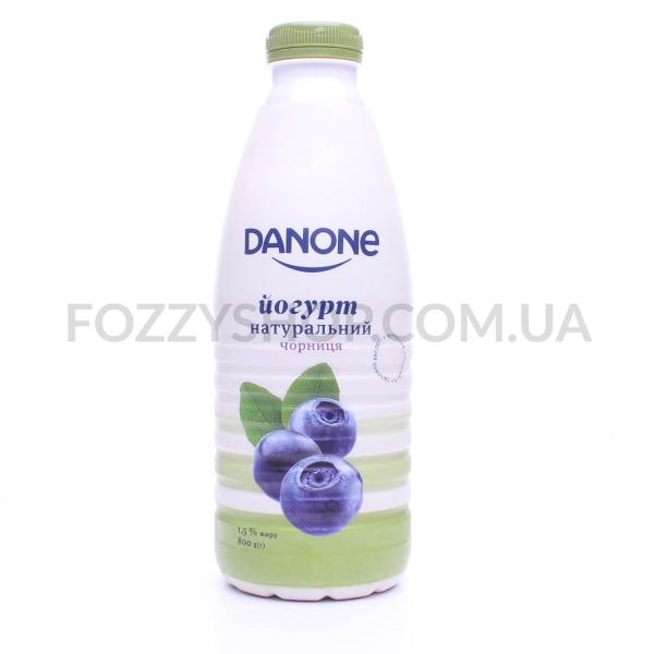 Йогурт Danone Черника питьевой 1,5% пэт