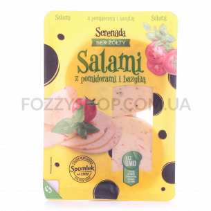 Сыр Serenada Салями томат-базилик 45%кор/м нарезка