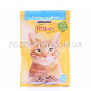Корм для котов Friskies с лососем в подливке