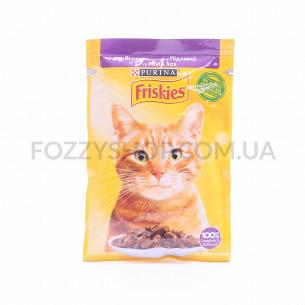 Корм для котов Friskies с ягненком в подливке
