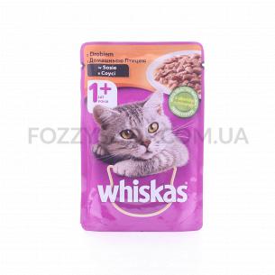 Корм для котов Whiskas с домашней птицей в соусе