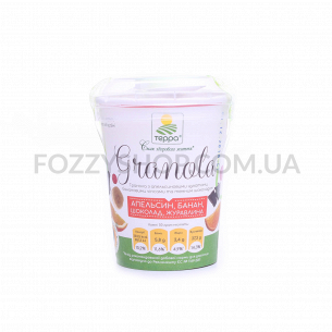 Гранола Терра апельс цукат-банан чипс-темн шокол