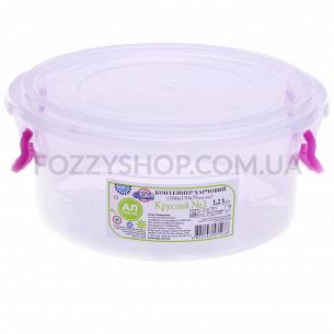 Контейнер пищевой Ал-Пластик круглый 1.2л