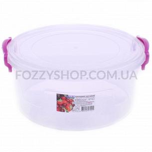 Контейнер пищевой Ал-Пластик круглый 2.1л