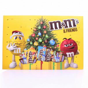 Набор подарочный M&M`s & Friends Рождеств календарь