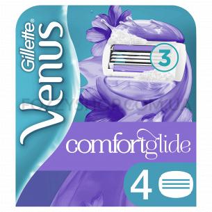 Cменные картриджи для бритья Venus Breeze cо встроенными подушечками с гелем (4 шт)