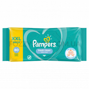 Cалфетки Pampers Fresh Clean 80 ПрК