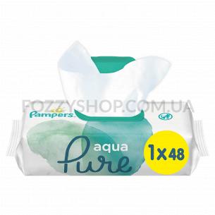 Cалфетки Pampers Aqua Pure 48 ПрК