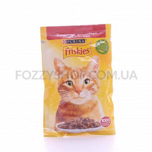Корм для котов Friskies с говядиной в соусе