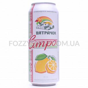 Напиток Вятрачок Ситро сильногазированный ж/б