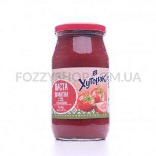Паста томатная Хуторок стерилизованная 25% 1 сорт