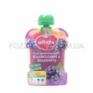 Пюре Milupa яблоко-банан-черная смородина-черника