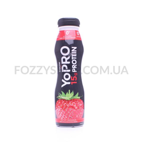 Йогурт YoPRO Клубника 0% пэт