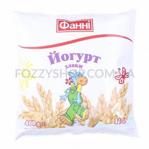 Йогурт Фанні злаки питьевой 1% п/э