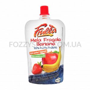 Пюре фрукт Frulla яблоко клубника банан б/с б/конс