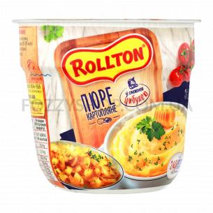 Пюре Rollton картофельное с жареным луком стакан