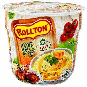 Пюре Rollton картофельное со вкусом курицы стакан