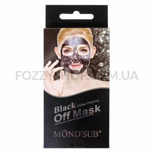 Маска для лица Mondsub Black Glitter пил-офф
