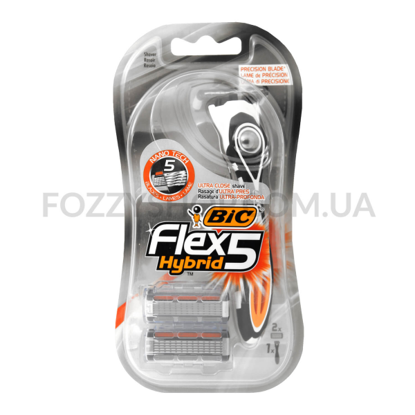Бритва BIC Flex 5 Hybrid + картриджи 2шт