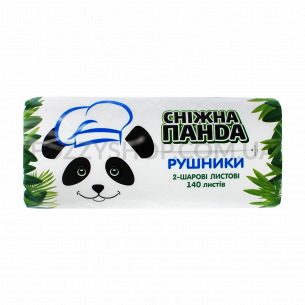 Полотенца Сніжна панда 140лис 2 слоя