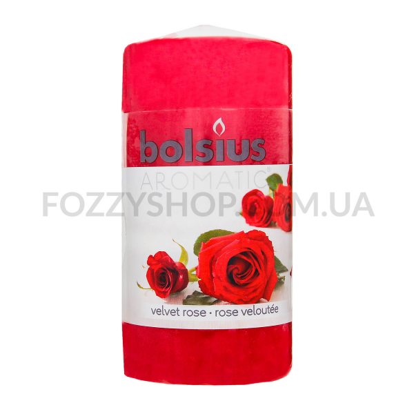 Свеча Арома Роза цилиндрическая 120*60мм
