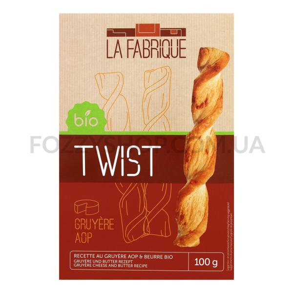 Печенье La Fabrique с сыром соленое слоеное