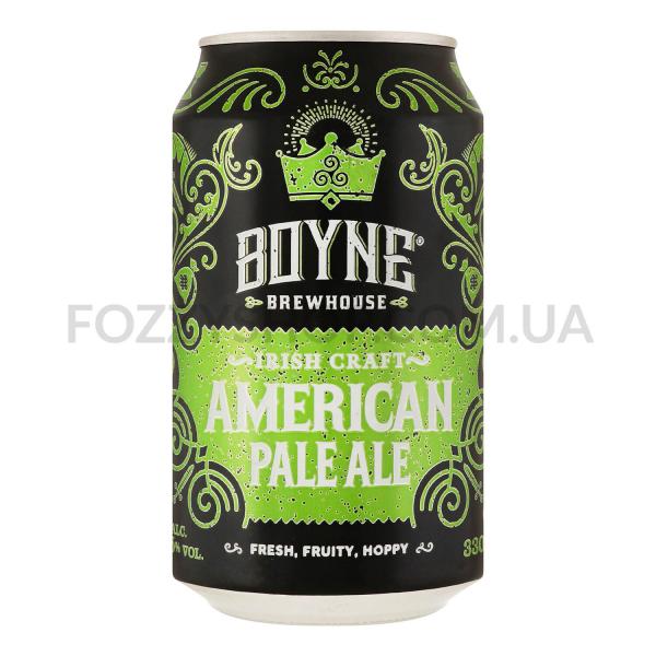 Пиво Boyne American Pale Ale светлое ж/б