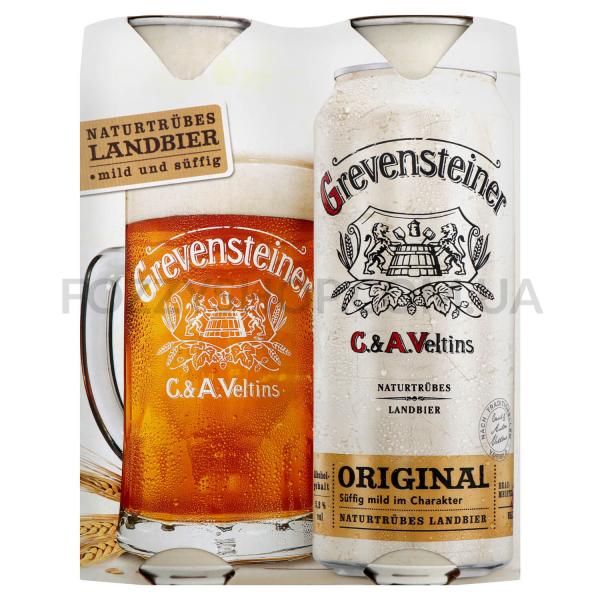 Пиво Grevensteiner янтарное ж/б