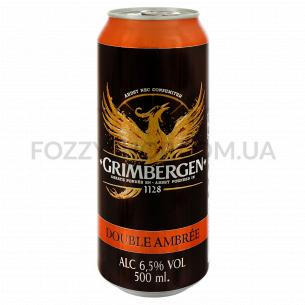 Пиво Grimbergen Double-Ambree темное ж/б