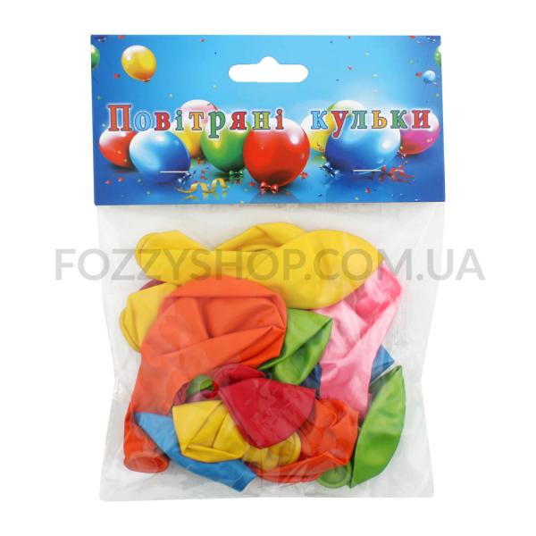 Н-р шаров воздушных цветных металл d18см 15шт D1