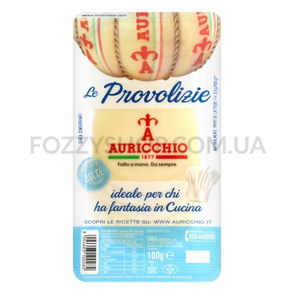 Сыр Auricchio Проволоне Дольче слайс 52% кор/мол