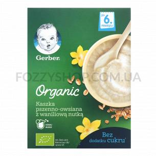 Каша пшенично-овсяная GerberOrganic вкус ванил мол