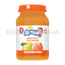 Пюре Агушаяблочно-персиковое