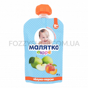 Пюре Малятко яблоко-персик с сахаром