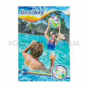 Мяч пляжный надувной дизайнерский Bestway 51см