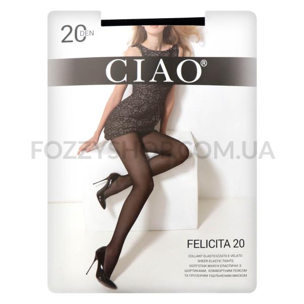 Колготки женские Ciao Felicita 20 nero р.4