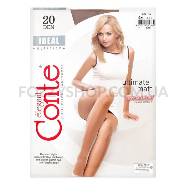 Колготки женские Conte Elegant Ideal 20 beige р.4
