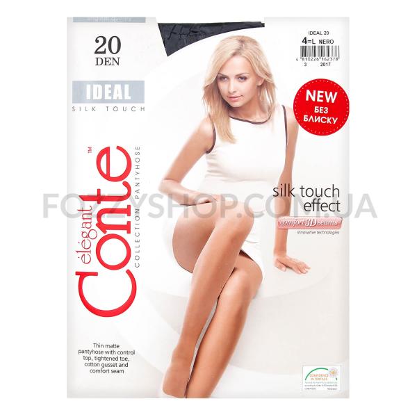 Колготки женские Conte Elegant Ideal 20 nero р.4