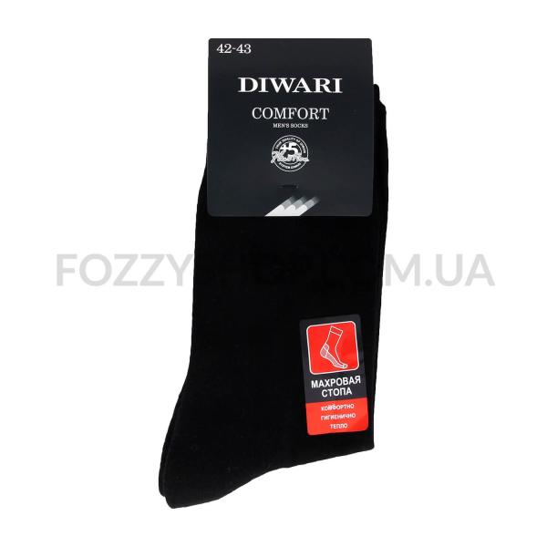 Носки муж DiWaRi Comfort 6С-18СП 000 черные р.27
