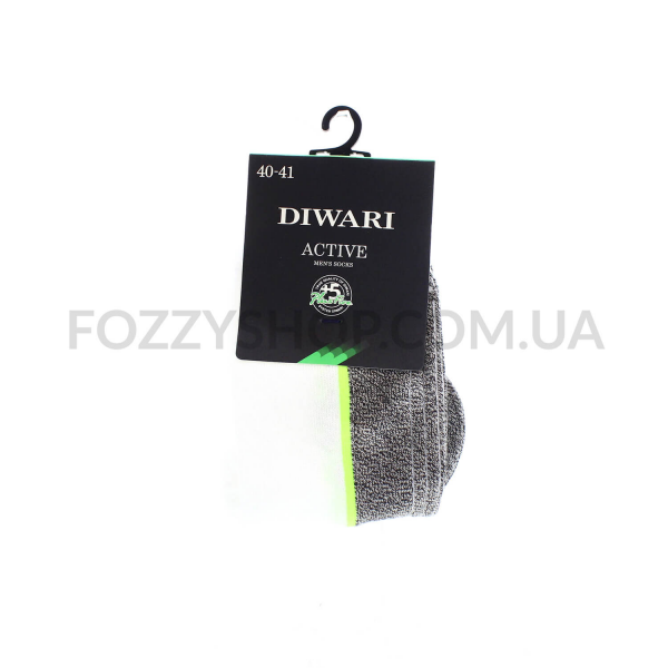 Носки муж.DiWaRi Active 15С-44СП 044 бел-т.сер р25