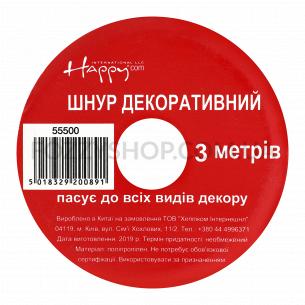 Шнур декоративный Bercor Ribbon металлик 55500