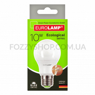 Лампа Eurolamp Led Eco P А60 10W 4000K E27