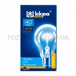 Лампа Искра 40Вт А50 Е27 прозрачная