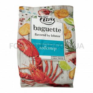 Сухарики Flint Baguette со вкусом лобстера